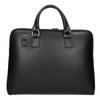 Kožená taška s odnímateľným popruhom bata, čierna, 964-6223 - 26