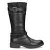 Čierne dievčenské čižmy mini-b, čierna, 391-6655 - 19