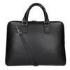 Kožená taška s odnímateľným popruhom bata, čierna, 964-6223 - 16