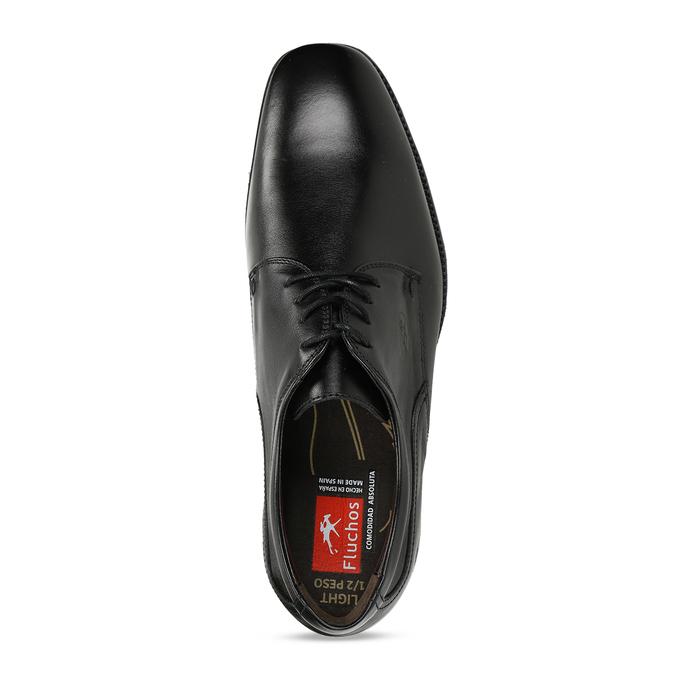 Kožené derby pánske čierne poltopánky fluchos, čierna, 824-6440 - 17