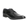 Čierne kožené poltopánky s prešitím bugatti, čierna, 824-6008 - 13