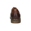 Hnedé kožené poltopánky s prešitím bata, hnedá, 826-4915 - 17