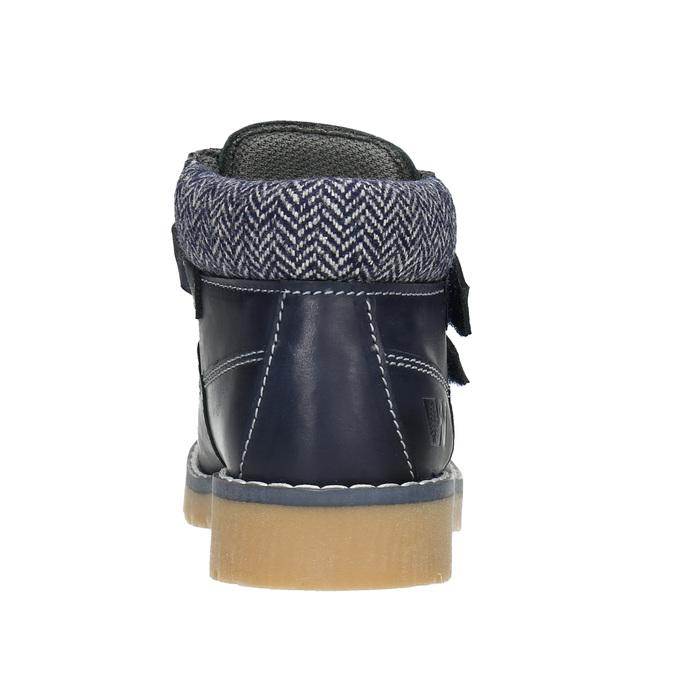 Detská kožená členková obuv weinbrenner-junior, modrá, 216-9200 - 16