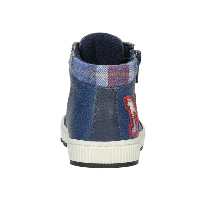 Detská kožená členková obuv bubblegummers, modrá, 114-9603 - 16