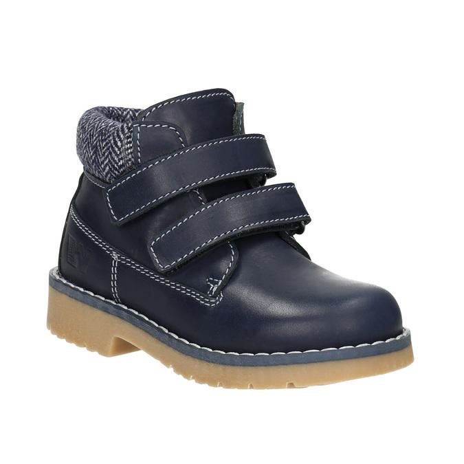 Detská kožená členková obuv weinbrenner-junior, modrá, 216-9200 - 13