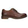 Hnedé kožené poltopánky s prešitím bata, hnedá, 826-4915 - 15