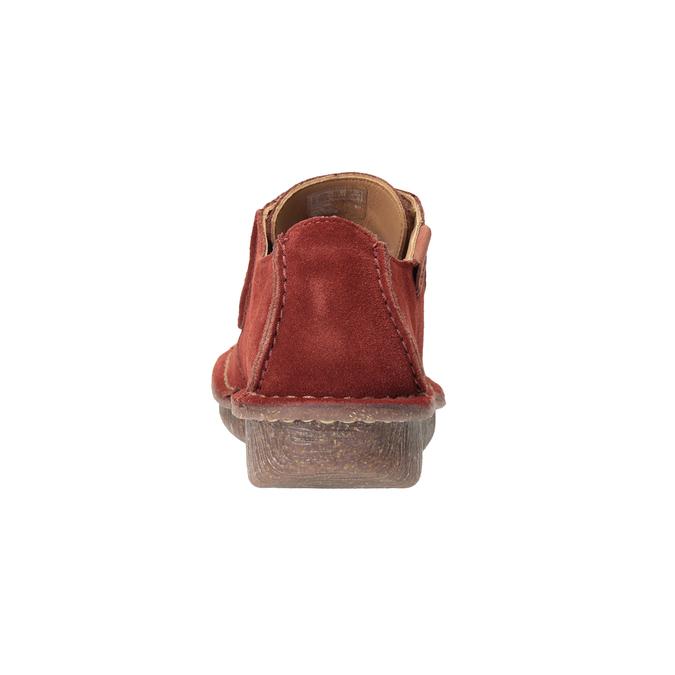 Ležérne dámske poltopánky clarks, červená, 623-5033 - 16