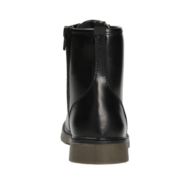 Šnurovacia detská obuv mini-b, čierna, 391-6407 - 16