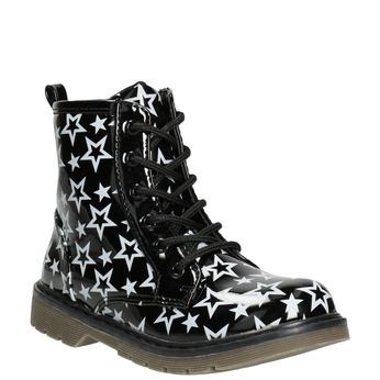 Šnurovacia obuv s hviezdičkami mini-b, čierna, 291-6167 - 13