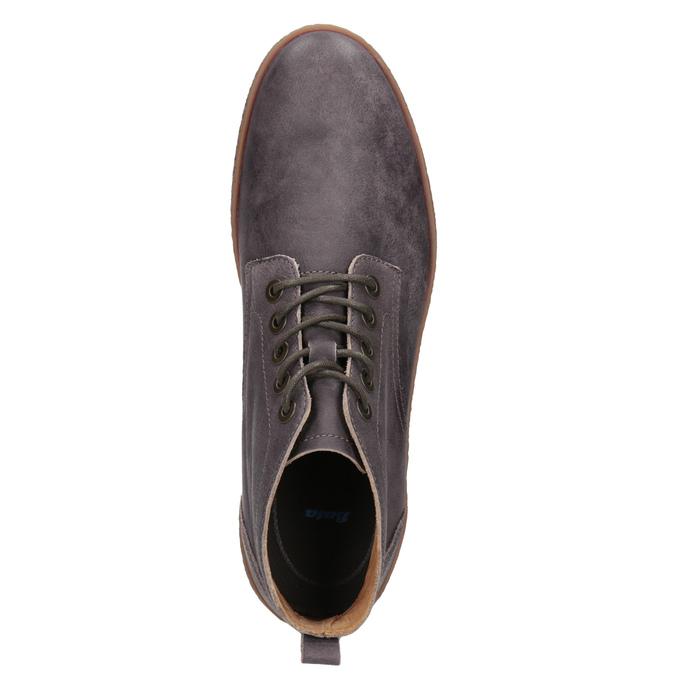 Kožená pánska členková obuv bata, hnedá, 846-4652 - 15