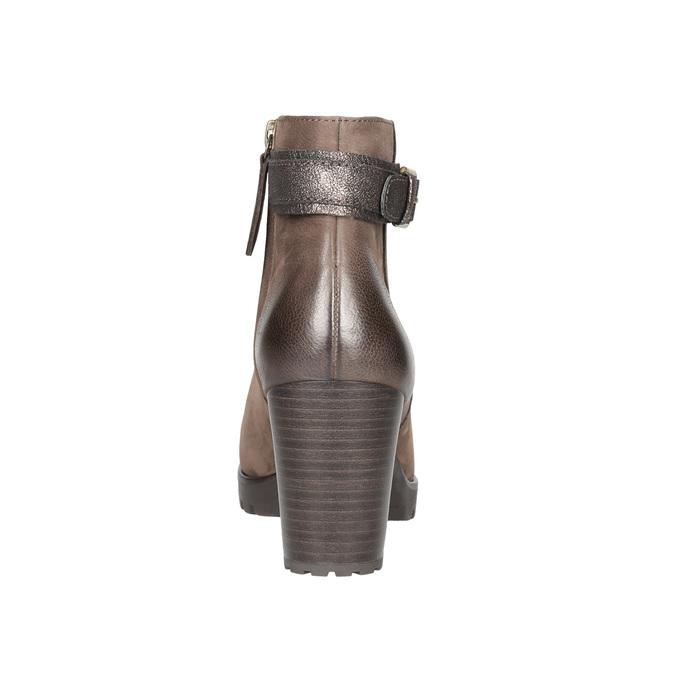 Dámske členkové čižmy s prackou bata, hnedá, 796-4644 - 17