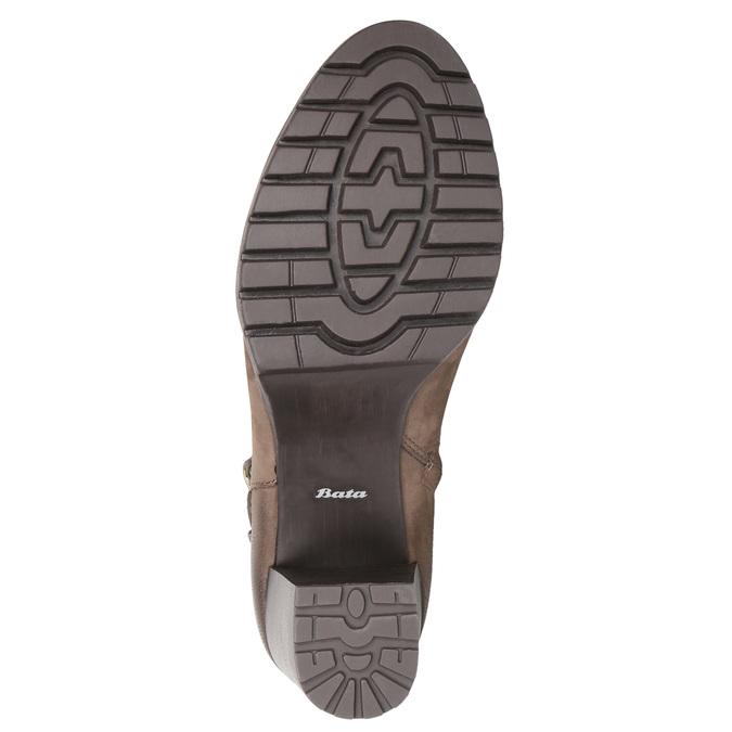 Dámske členkové čižmy s prackou bata, hnedá, 796-4644 - 26