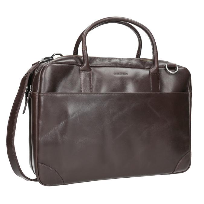 Kožená taška s popruhom royal-republiq, hnedá, 964-4052 - 13