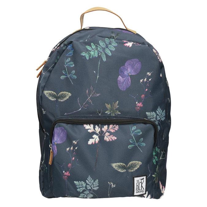Modrý batoh s potlačou the-pack-society, modrá, 969-9085 - 26