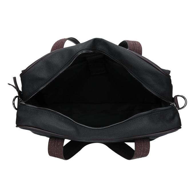 Pánska textilná taška bata, čierna, 969-6131 - 15