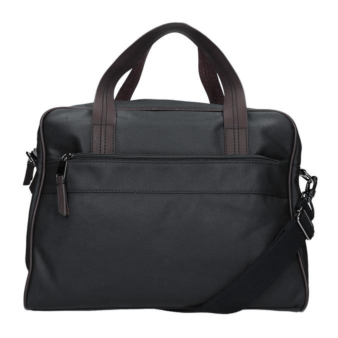 Pánska textilná taška bata, čierna, 969-6131 - 16