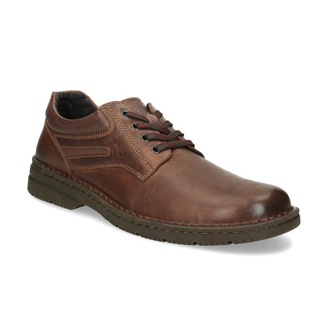 Hnedé kožené poltopánky bata, hnedá, 826-4918 - 13