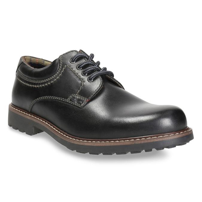Kožené pánske poltopánky bata, čierna, 826-6619 - 13