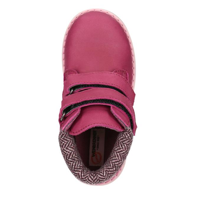 Ružová detská zimná obuv weinbrenner-junior, ružová, 226-5200 - 15