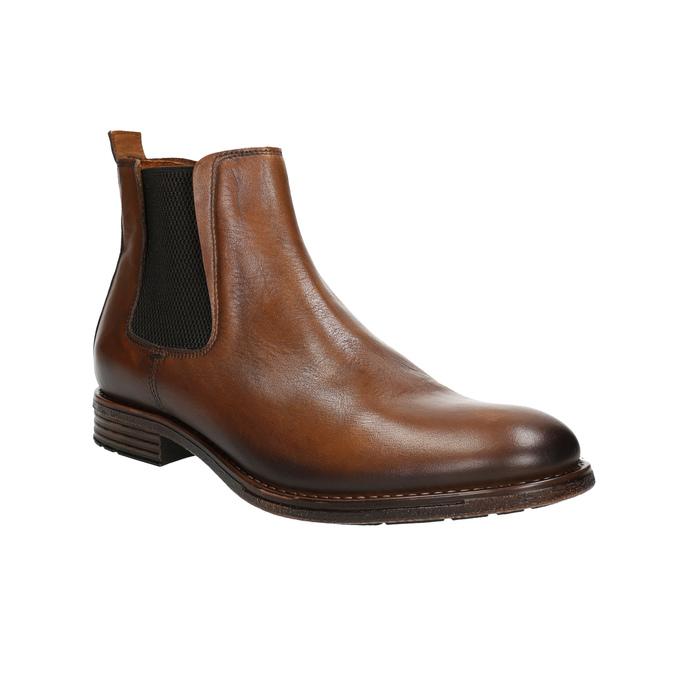 Hnedé kožené Chelsea Boots bata, hnedá, 896-3673 - 13