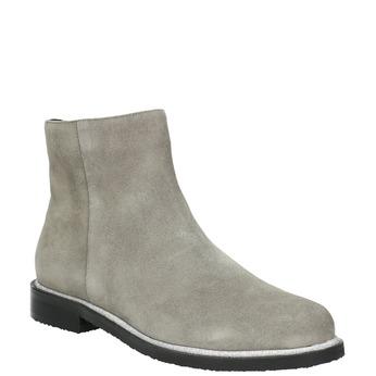 Členková obuv z brúsenej kože bata, šedá, 593-2603 - 13