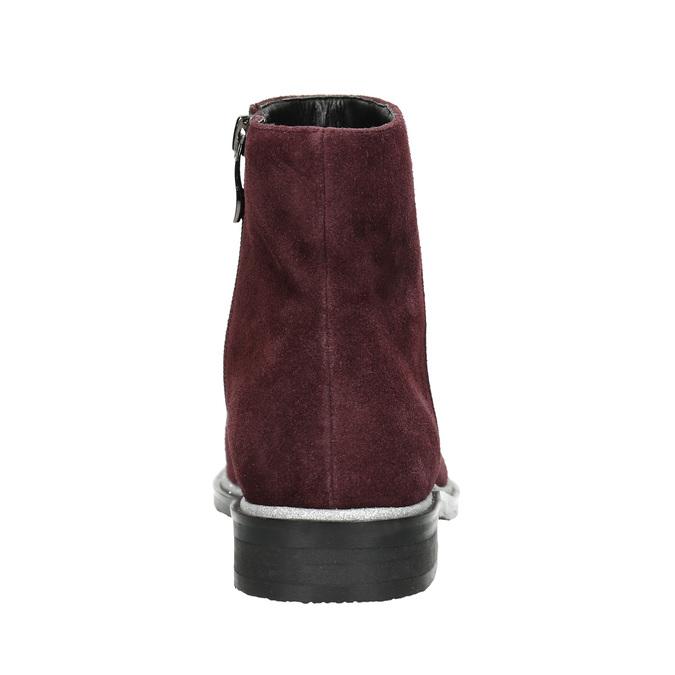 Členková obuv z brúsenej kože bata, červená, 593-5603 - 17