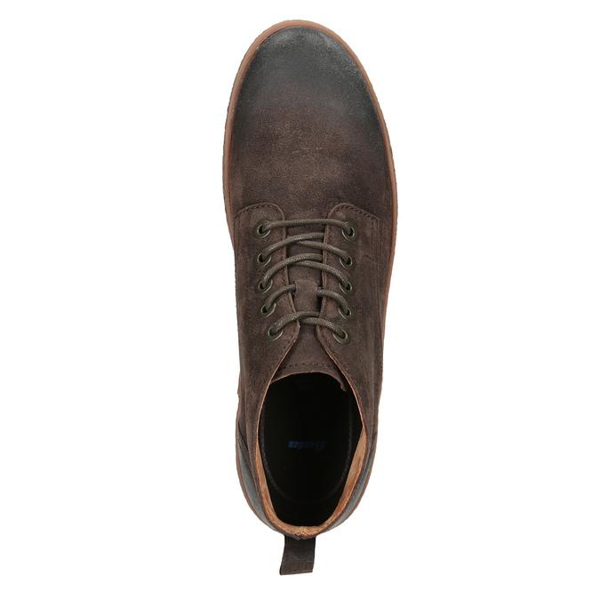 Pánska kožená členková obuv bata, hnedá, 846-4653 - 15