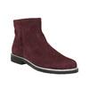 Členková obuv z brúsenej kože bata, červená, 593-5603 - 13