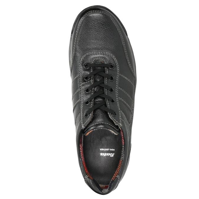 Pánske kožené tenisky bata, čierna, 824-6921 - 26