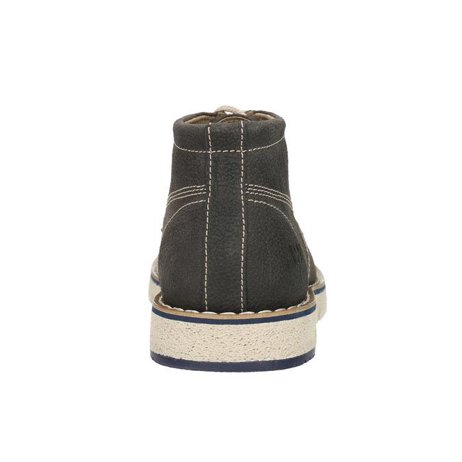 Členková pánska obuv s výraznou podrážkou weinbrenner, šedá, 846-2657 - 16