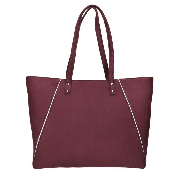 Vínová dámska kabelka bata, červená, 969-9669 - 17