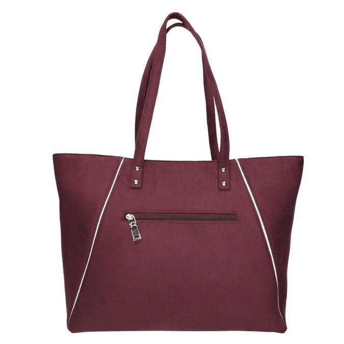 Vínová dámska kabelka bata, červená, 969-9669 - 26
