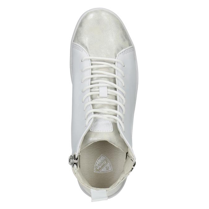 Biele členkové tenisky atletico, biela, 501-1172 - 15