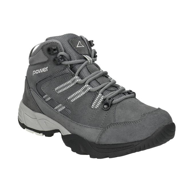 Kožená členková obuv v Outdoor štýle power, šedá, 503-2232 - 13
