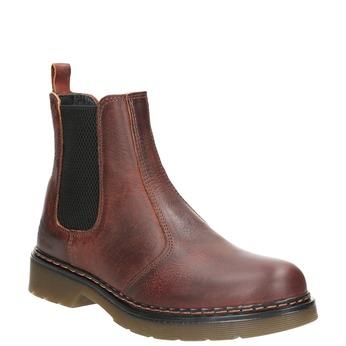 Kožená dámska Chelsea obuv bata, hnedá, 596-3680 - 13