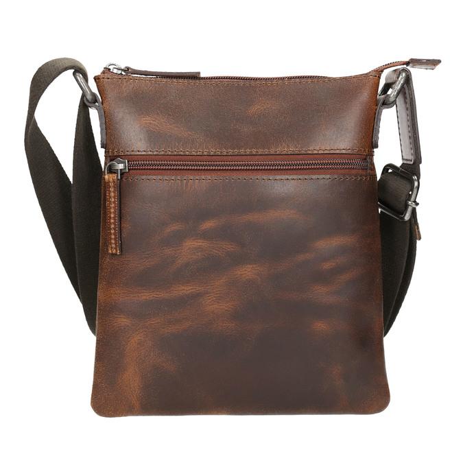 Pánska kožená Crossbody taška bata, hnedá, 964-4140 - 17