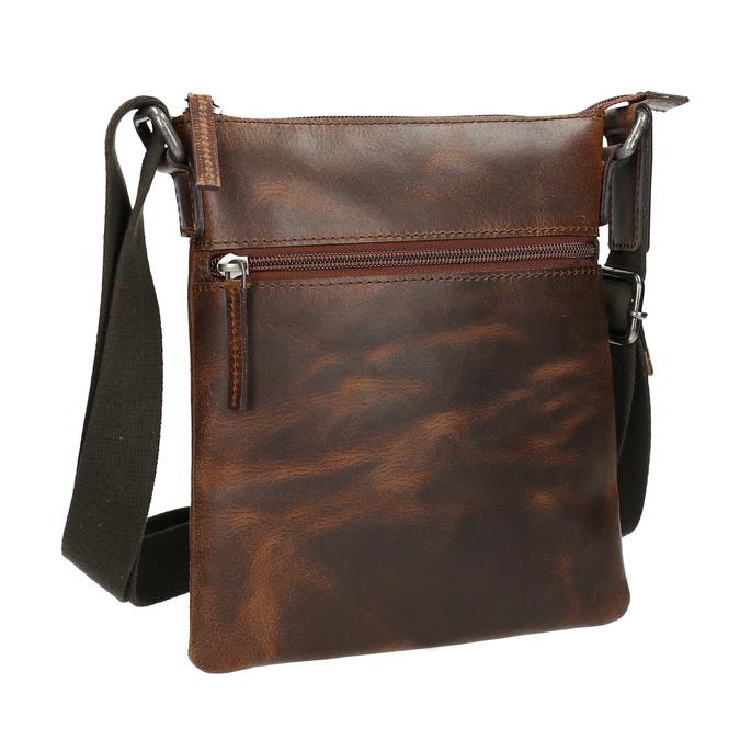 Pánska kožená Crossbody taška bata, hnedá, 964-4140 - 13