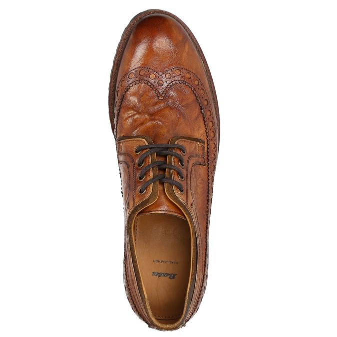 Pánske kožené poltopánky bata, hnedá, 826-3916 - 26