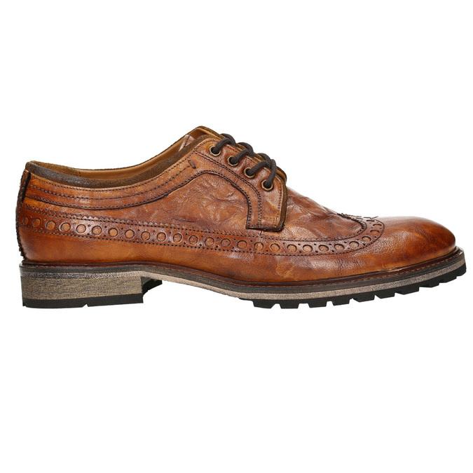 Pánske kožené poltopánky bata, hnedá, 826-3916 - 15