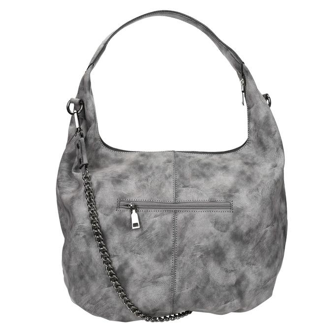 Hobo kabelka s retiazkou bata, šedá, 961-2765 - 26