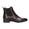 Kožená dámska Chelsea obuv bata, červená, 596-5679 - 15