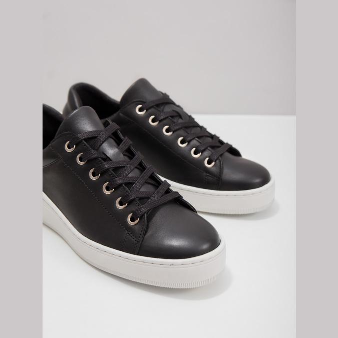 Kožené tenisky s výraznou podrážkou bata, čierna, 526-6641 - 18