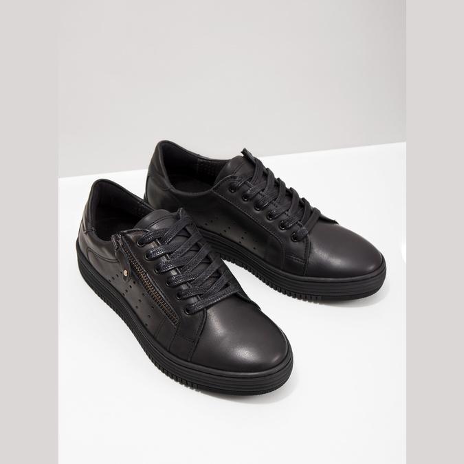 Dámske kožené tenisky bata, čierna, 526-6630 - 18