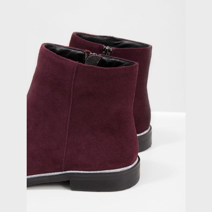 Členková obuv z brúsenej kože bata, červená, 593-5603 - 14