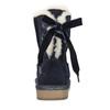Detské kožené kapce bata, modrá, 393-9604 - 17