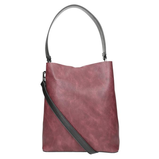 Dámska dvojfarebná kabelka bata, čierna, 961-6173 - 26