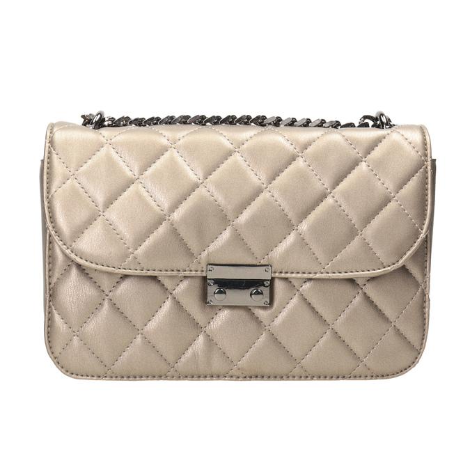 Prešívaná Crossbody kabelka bata, hnedá, 961-4141 - 26
