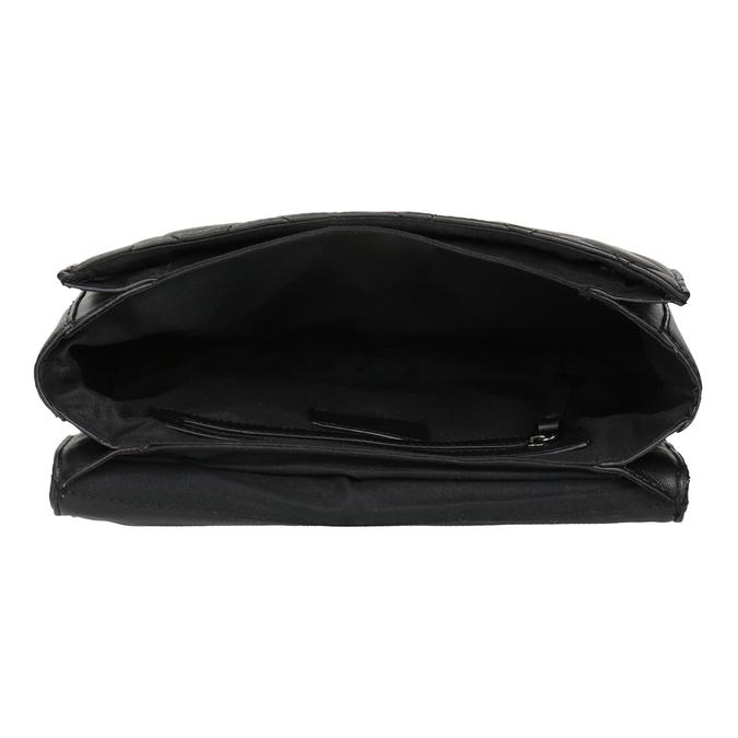 Čierna prešívaná Crossbody kabelka bata, čierna, 961-6141 - 15