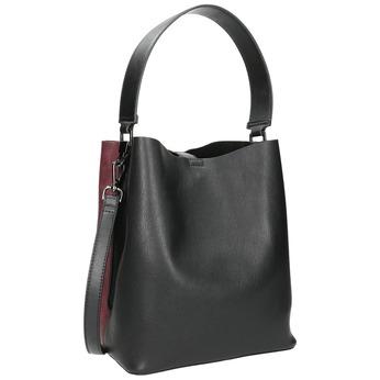 Dámska dvojfarebná kabelka bata, čierna, 961-6173 - 13