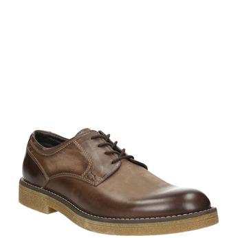 Hnedé kožené poltopánky bata, hnedá, 826-4620 - 13